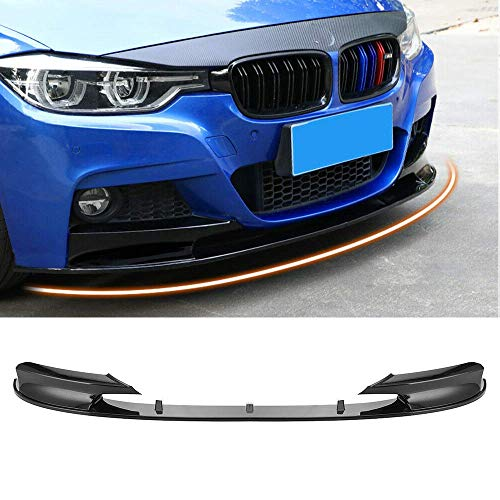 MotorFansClub Front Bumper Lip Splitter for 2012-2018 BMW F30 3 Series M Style Trim Protection Splitter Spoiler, Carbon Fiber Surface