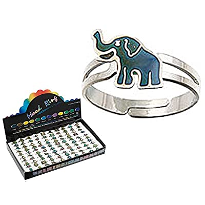 Mood Ring Expandable Elephant Charm Novelty: Toys & Games [5Bkhe0201467]