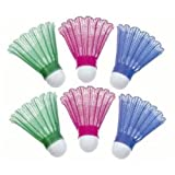 : Sportcraft Set of 6 Color Shuttlecocks