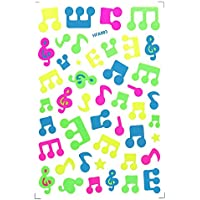 Pithadai Animal, Flowers, Starts, Fruits, Music,Fish Stickers (Multicolour) Set of 50