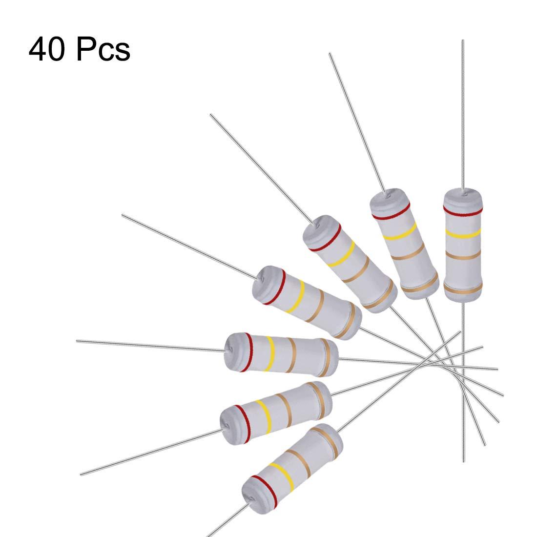 3 W, /± 5/% de tolerancia 1.3 ohm 20pcs Resistor de pel/ícula de /óxido de metal Sourcingmap