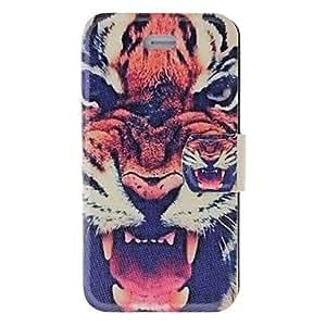 Conseguir Olor Fragante Fierce Tiger patrón de caso completo de cuerpo con mate de la contraportada y el soporte para el iPhone 4/4S