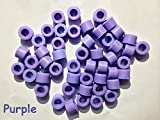 50 Pcs Small Type Dental Hygienist Silicone Instrument Color Code Rings Purple
