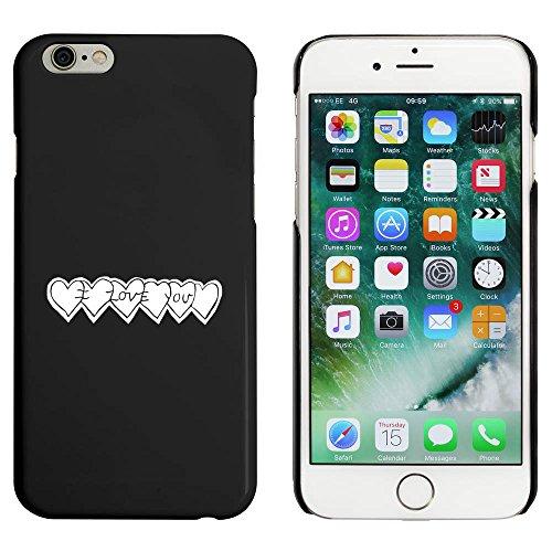 Schwarz 'Liebesherzen' Hülle für iPhone 6 u. 6s (MC00025081)