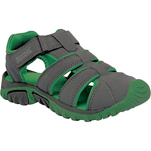 Regatta Great Outdoors Jungen Sandalen Boardwalk (38EU / 8UK) (Granit/Grün)