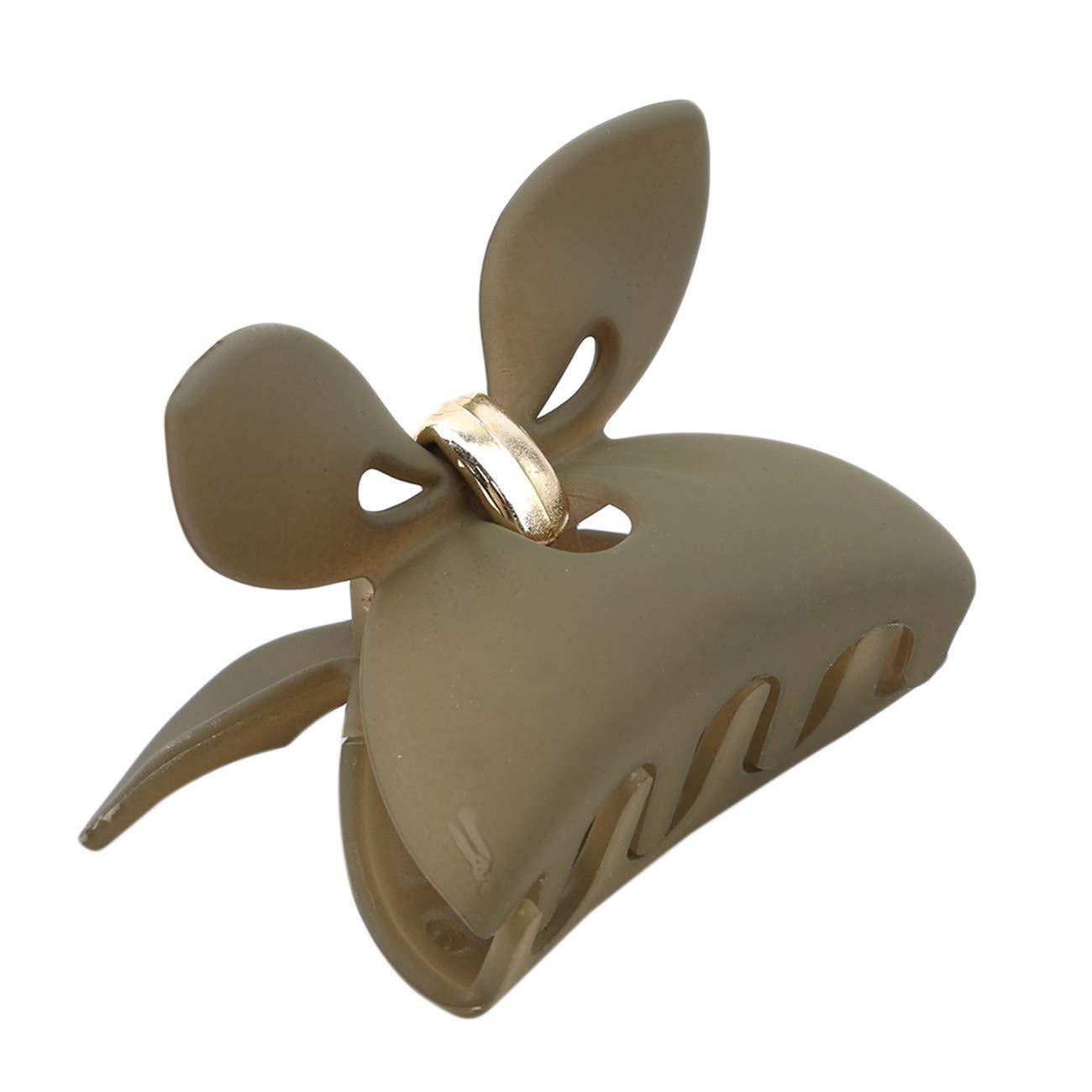 Gr/ün Bigsweety Womens Kaninchen Ohr Haarspange Bowknot Einfache Unregelm/ä/ßige Klaue Clips Headwear