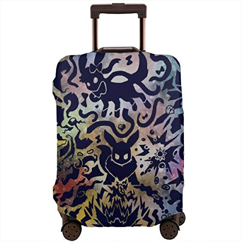 Anime Eevee Pikachu Travel Luggage Cover Suitcase Protector Washable Baggage Luggage Covers Zipper Fits 26-28 Inch