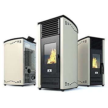 Estufa de pellets de aire Estufa ventilada Eco Spar modelo Tukana Salida de calor 8kW: Amazon.es: Bricolaje y herramientas