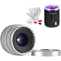 Zonlai 22mm F1.8 Wide Angle Lens for Olympus Panasonic Micro Four Thirds MFT M4/3 Mirrorless Cameras Manual Focus Prime Fixed Lens (Silver)