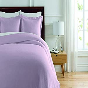 Soho New York Home Lafayette 2-Piece Duvet Set, Twin, Lilac