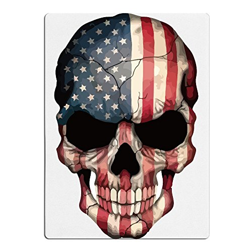 Dexter Skull T-shirt (American Flag Skull Sport Beach Bath Light Towel Unisex White)