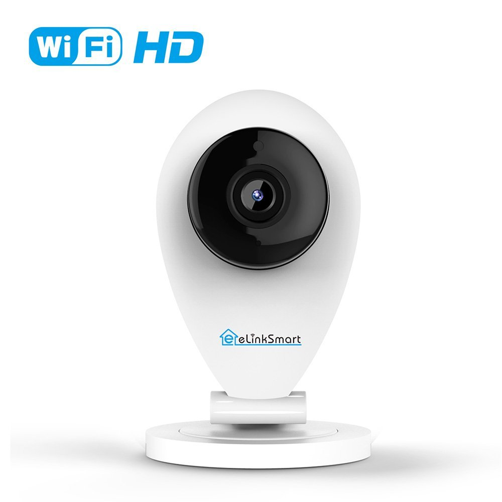 eLinkSmart 720P HD Wifi Camera Mini Indoor IP Camera for Home Security, Night Vision, Video Recording, Motion and Crying Detection
