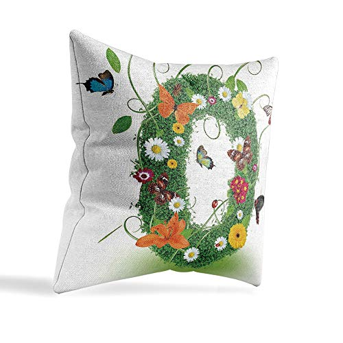 YOLIYANA Handmade System Letter O Office Location, Studio Pillowcase with Pattern 12×12 Inches