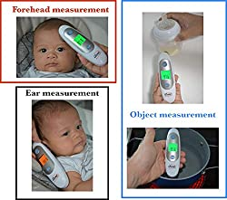 Baby Thermometer Forehead and Ear Thermometer Medical Digital Infrared Thermometer for Fever, Instant Accurate Reading Temporal Thermometer for kids Infant Toddler and Adult