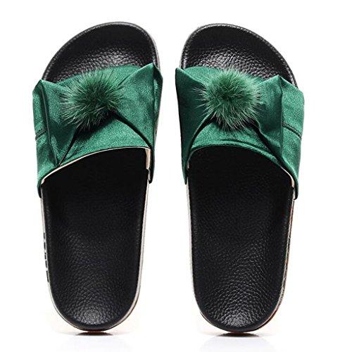 Infradito da Moda Alla EU37 CN37 Green ciabatte A xy Estate Fondo Spiaggia Femminile e Colore Sandali Scarpe Piatto Da dimensioni Pink spiaggia 5 UK4 Pantofole 5 vdqztR