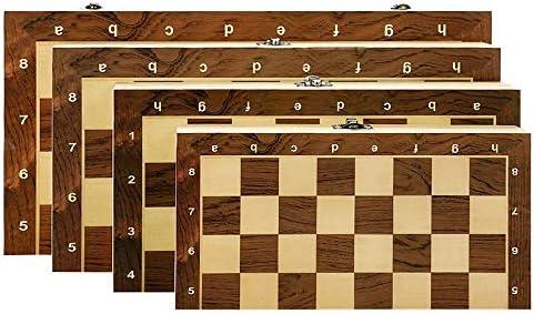Juego de Mesa Wood-Hecho 12-15 Pulgadas Juego de ajedrez Plegable con Bolsa de ajedrez Piezas de ajedrez Hecho a Mano Diversión Familiar (Color : 29cm (W1102A)): Amazon.es: Hogar