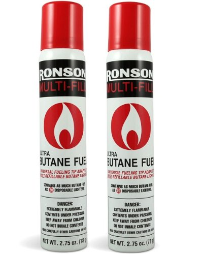 Price comparison product image Ronson 99146 2 Large Lighter Butane Refill 78 Grams 2.75 oz