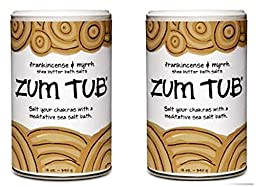 Indigo Wild: Zum Tub Frankincense & Myrrh Sea Butter Bath Salts Set of 2