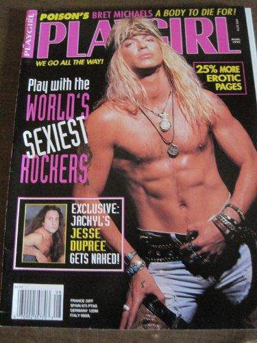 Playgirl Magazine Aug. 1993 BRET MICHAELS Cover, Ed Gaut, Jesee Dupree