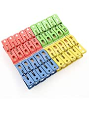 JJSFJH 20 pcs HOT New Heavy Duty Plastic Laundry Clothes Pins Color Hanging Pegs Clips
