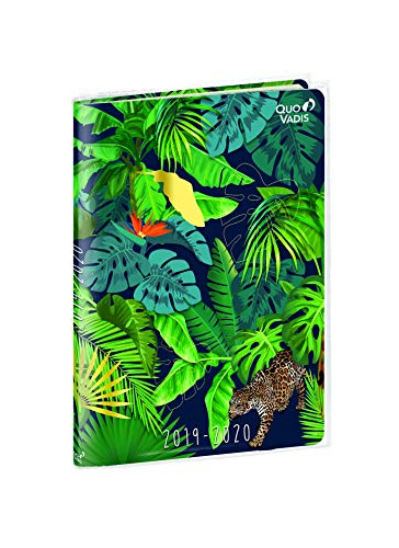 Jungle 2019-2020 School Diary, 1 Day/Page, 12 x 17 cm, Panther Design