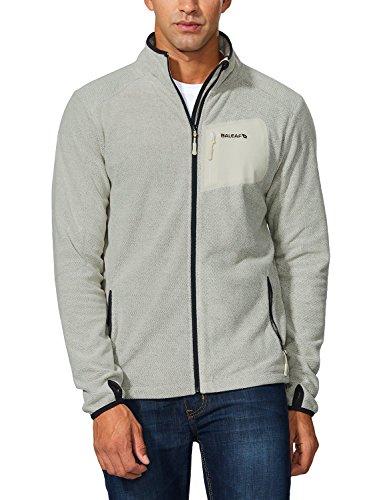 - Baleaf Men's Full Zip Fleece Jacket Pullover Sport Sweater Sweatshirt Charcoal Heather Size L