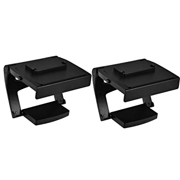 D DOLITY 2pcs Adjustable TV Clip Clamp Bracket Somatic Juego TV Stand Support para Xbox ONE