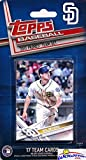 San Diego Padres 2017 Topps Baseball EXCLUSIVE Special Limited Edition 17 Card Complete Team Set with Wil Myers, Cory Spangenberg & Many More Stars & Rookies! Shipped in Bubble Mailer! WOWZZER!