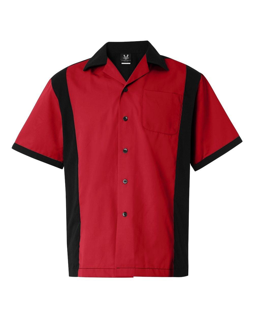 Hilton HP2243 Men's Cruiser Bowling Shirt Red Small