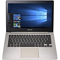 ASUS ZenBook 13.3 FHD IPS Touchscreen Notebook Computer-intel Core i5-6200U 2.3GHz,8GB RAM, 256GB SSD, Windows 10-Smokey Brown