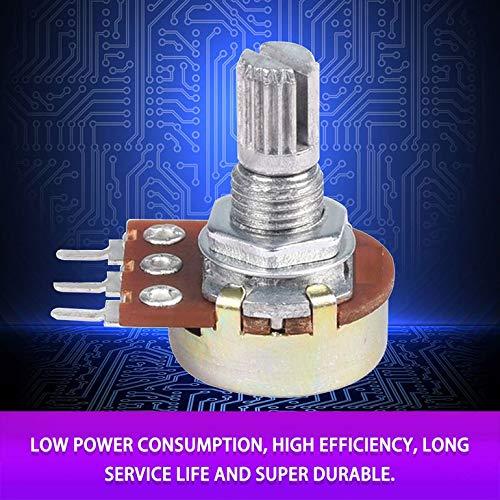 CreameBrulee 10PCS WH148 Pot B10K 10K lineal del potenci/ómetro del eje de 15 mm 3 Pin alta calidad