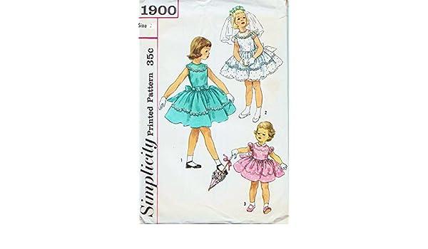 Simplicity 1900 Party, diseño de chicas, flores niña vestido ...