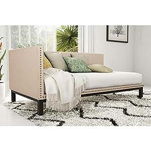shabby chic mid century upholstered modern. Black Bedroom Furniture Sets. Home Design Ideas