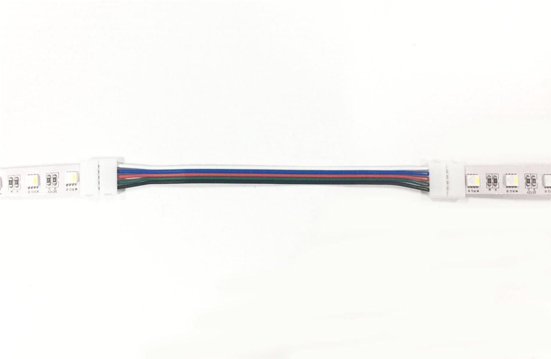 LitaElek 5-pin RGBW LED Strip cable de conector para 10mm de ancho SMD 5050 RGBW LED tira de luz LED de la cinta de la luz Converter Adaptador para conectar 2 RGBW LED tiras junto-17cm de largo 10pcs