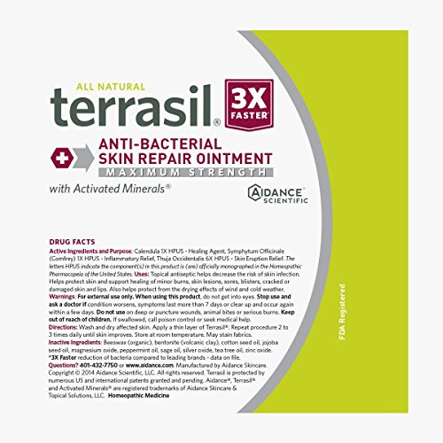 Antibacterial Skin Repair MAX 3X Faster Dr. Recommended 100% Guaranteed All Natural Fissures Folliculitis Angular Cheilitis Impetigo Chilblains Lichen Sclerosus Boils Cellulitis by Terrasil® by Aidance Skincare & Topical Solutions (Image #7)