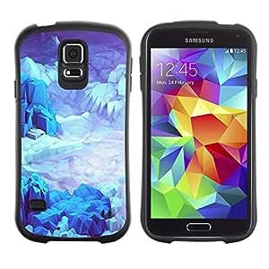 LASTONE PHONE CASE / Suave Silicona Caso Carcasa de Caucho Funda para Samsung Galaxy S5 SM-G900 / Iceberg Planet Space Terrain Blue