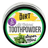The Dirt All Natural Super Mint Trace Mineral Tooth Brushing Powder - 6 week supply, 10g