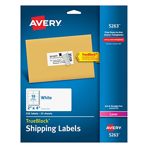 Avery Shipping Printers Permanent TrueBlock product image