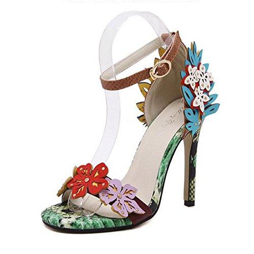 Baile Vestir Altos Hebilla De Fina Tacones Lujo Mujer yc L A Zapatos Serpentina Cómoda 7qFwfPB