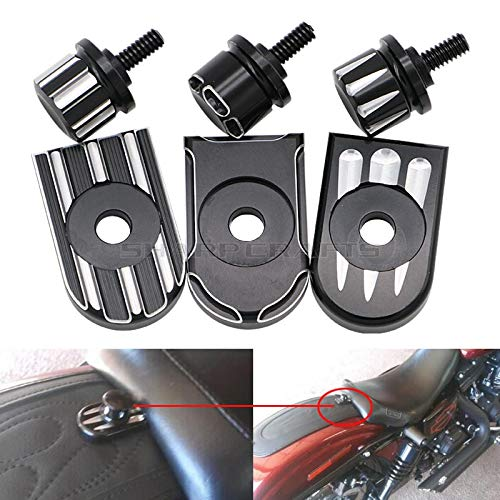 Fittings Motorcycle CNC Deep Cut Seat Bolt Tab Screw Mount Knob Cover Cap Kit for Harley Sportster Dyna Touring Fatboy Road King Softail
