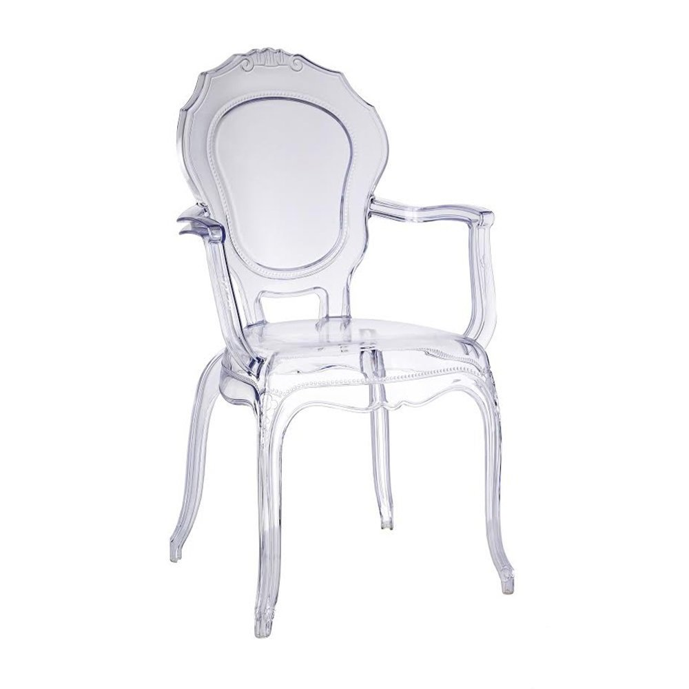 Take Me Home Furniture Princess Arm Chair in Clear TMH-PC-168A
