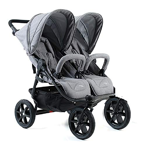 Valco Duo X Double Stroller in Dove Grey for sale  Delivered anywhere in USA