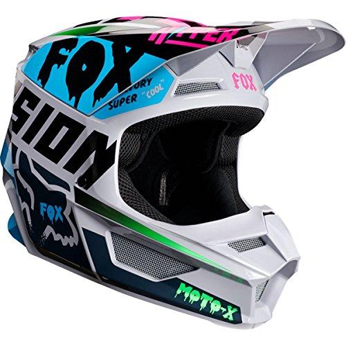 Fox Racing V1 Czar Youth Boys Off-Road Motorcycle Helmet - Light Gray/Small