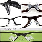 Lot de 5 patins plaquettes anti-glisse antidérapant en silicone pour lunettes plastiques de vue ou soleil - coloris TRANSPARENT de SEA SEX AND SUN FR