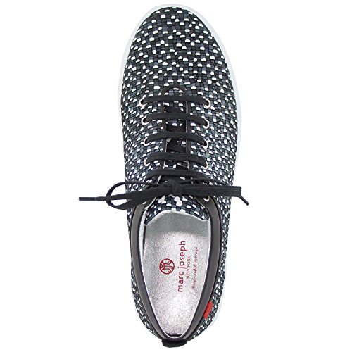 Marc Joseph New York Womens Bleecker Street Sneaker Black Tile In Pelle
