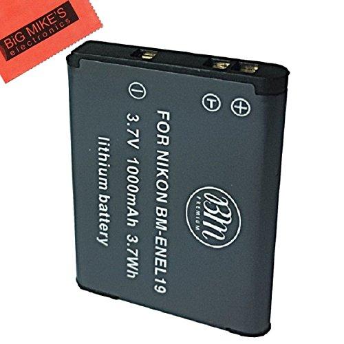 BM Premium EN-EL19, ENEL19 Battery For Nikon Coolpix A300, W100, S32, S33, S100, S3100, S3200, S3300, S3500, S3600, S3700, S4100, S4200, S4300, S5200, S5300, S6400, S6500, S6800, S6900, S7000 Camera
