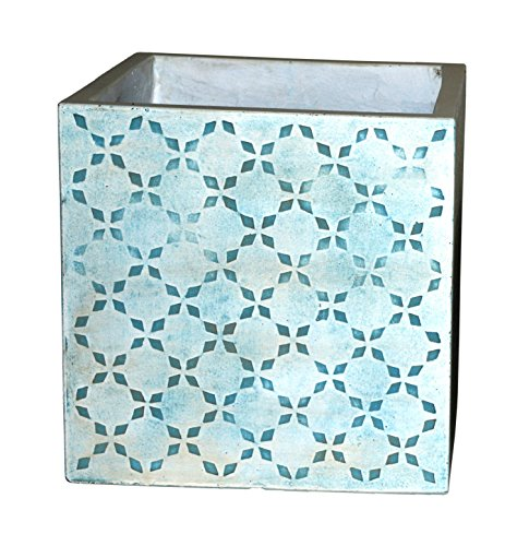 Happy Planter Cube Natural Cement Fiber Planter, Size - 5 x 5
