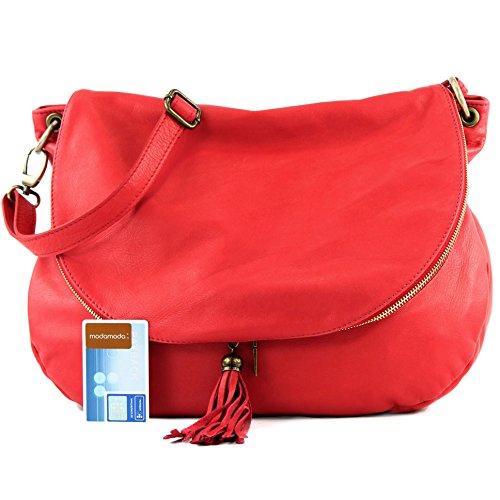 Large Ledertasche Umh Modamoda Medio Schultertasche Handtasche Grande Damentasche Red Nappaleder ngetasche T40 Strawberry De Ital aaqnWF1