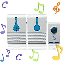 Wireless 32 Tune Songs Remote Control Door Bell.built In Double Speakers, Makes The Bell Sound More Clear Ideal For House, Office Etc