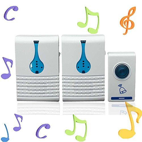 Wireless 32 Tune Songs Remote Control Door Bell.built In Double Speakers, Makes The Bell Sound More Clear Ideal For House, Office (Modern Halloween Songs 2017)